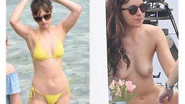 xxx Dakota Johnson Desnuda Mostrando las Tetas en la Playa -famosas-en-toplles-descuidos-tetas-vulva-porno-celebrity-porn-icelebrityporn (1)